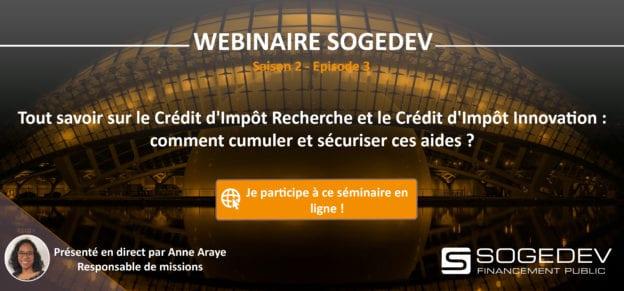 Webinar Sogedev Episode 3 Credit D Impot Recherche Et Le Credit D