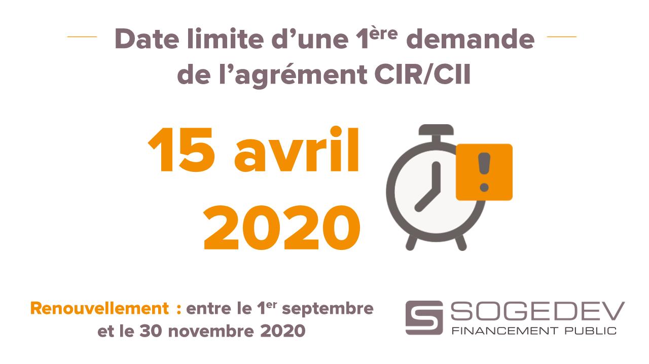 Agrément CIR 2020