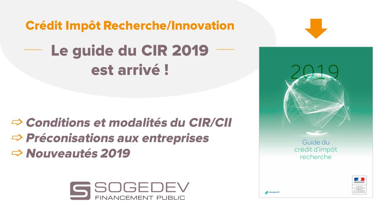 Guide du CIR 2019 2020